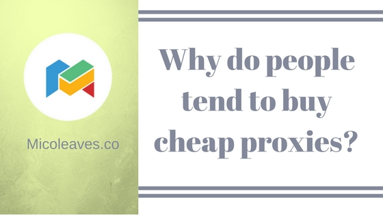Why do People Tend to Buy Cheap Proxies?