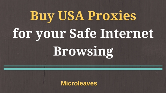 Buy USA Proxies for your Safe Internet Browsing