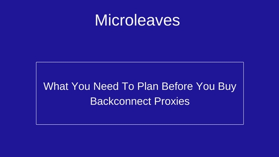 What You Need To Plan Before You Buy Backconnect Proxies
