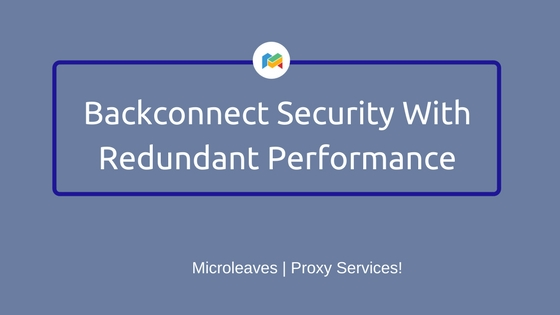 Backconnect Security With Redundant Performance